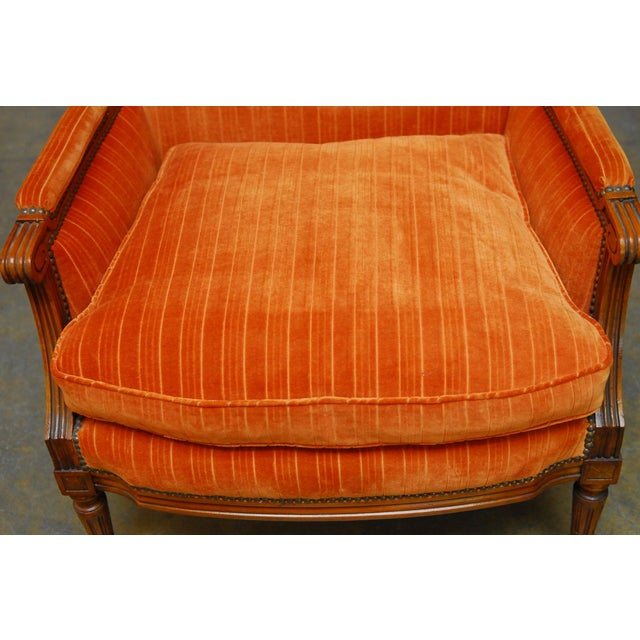 French Louis XVI Style Marquise Armchair - Image 3 of 7