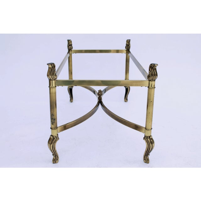 Oval Brass & Glass Coffee Table - Image 7 of 7