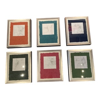 S Wheeler Set of 6 Abstracts For Sale