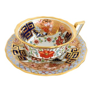 20th Century Art Nouveau Spode Tea Cup and Saucer, R3890