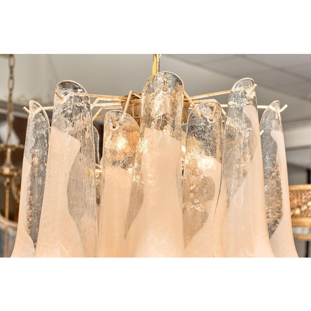 """Peach Murano Glass """"Selle"""" Chandeliers - a Pair For Sale In Austin - Image 6 of 10"""