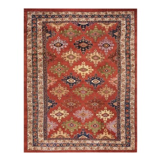 Antique Malayer Red Rug For Sale