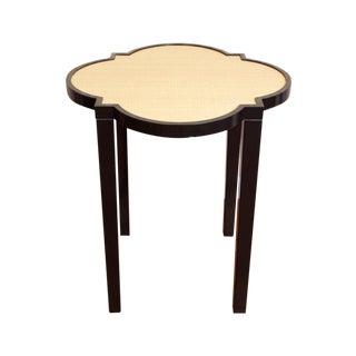 "Oomph ""Greenwich"" Side Table in Black + Raffia For Sale"
