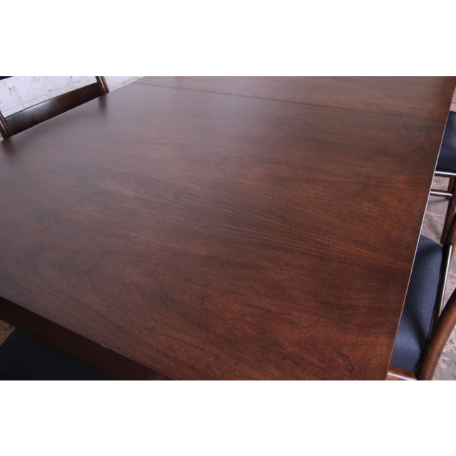 Brown Robsjohn Gibbings for Widdicomb X-Base Walnut Dining Table, Newly Restored For Sale - Image 8 of 11