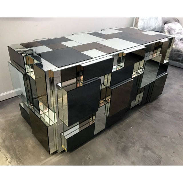 Paul Evans Style Mirrored Dining Table Base For Sale In Las Vegas - Image 6 of 6