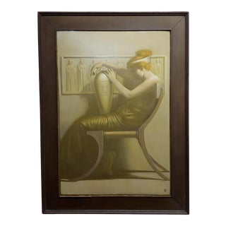 Edmund Philo Kellogg - Art Deco Red Head Female -Oil Painting-C1930s For Sale