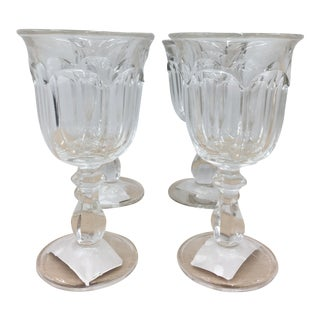 Early 20th Century Fostoria Glass Goblets - Set of 4 For Sale