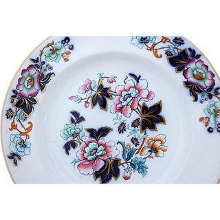 Antique Davenport Flow Blue Floral Plates - Set of 7 Preview