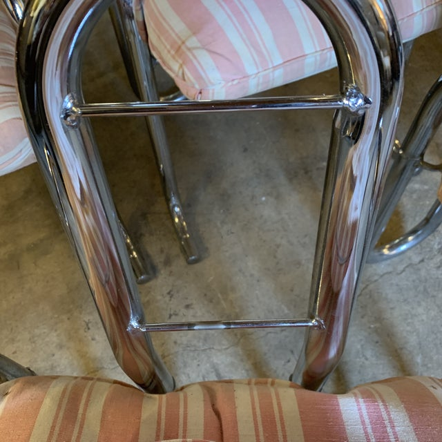 Post Modern Chrome Tubular Dining Chairs For Sale - Image 9 of 12