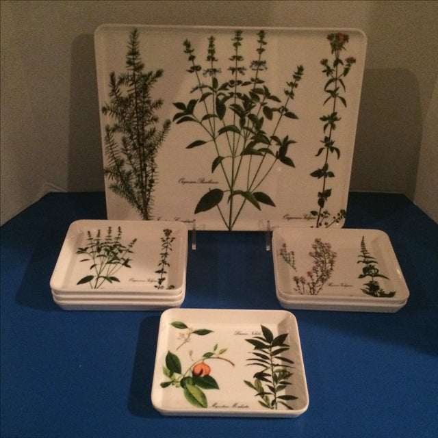 Mid Century Preppy Melamine Tray and Dish Set For Sale - Image 4 of 8