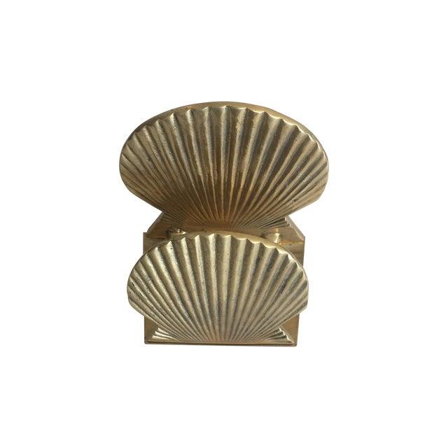Vintage Brass Shell Letter Holder - Image 1 of 4
