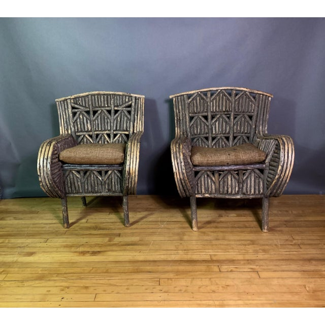 Adirondack Pair of 1930s New Hampshire Adirondack Chairs For Sale - Image 3 of 12