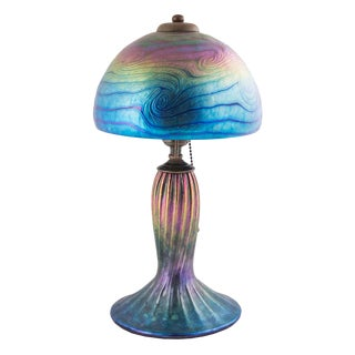 "1990s ""Vintage"" Lundberg Studios Art Glass Lamp For Sale"