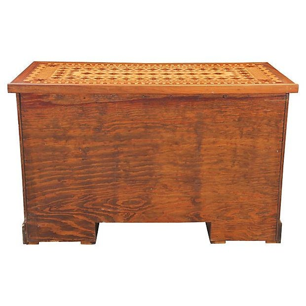 Vintage Parquetry Kneehole Desk - Image 6 of 7