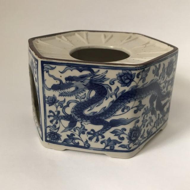 Blue & White Porcelain Vessel For Sale - Image 4 of 11