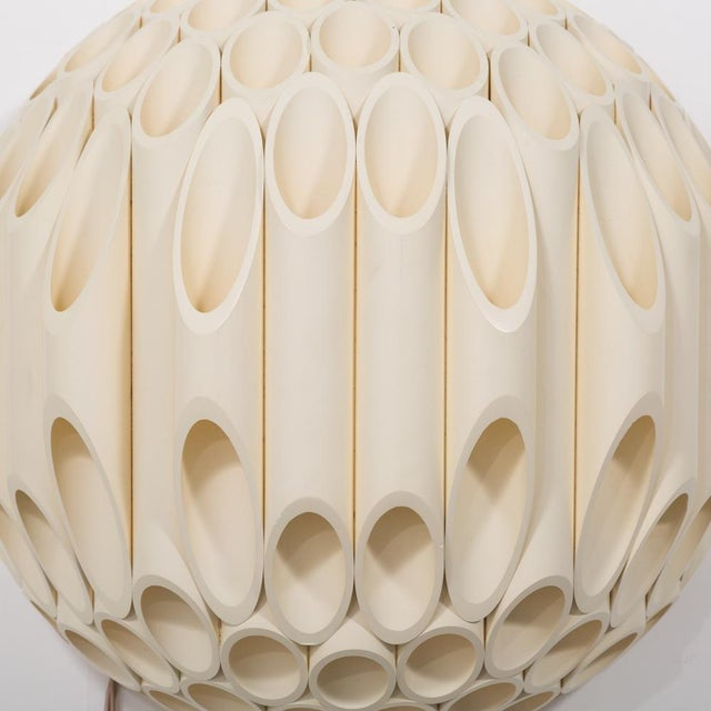 White An Exceptional Pair of Spherical Wall Sconce by Rougier Canada 1970s For Sale - Image 8 of 8