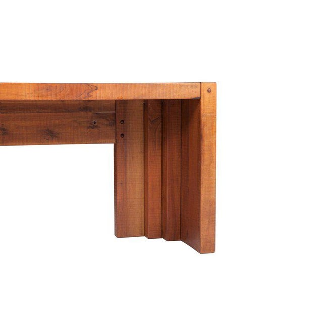 Mid-Century Modern Rivadossi Hardwood Dining or Console Table For Sale - Image 3 of 13