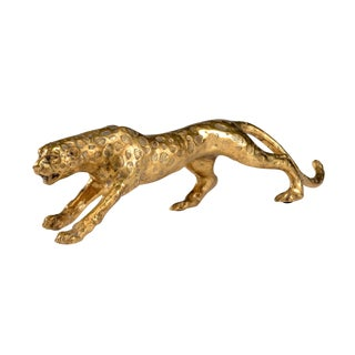Gold Leopard Statue For Sale