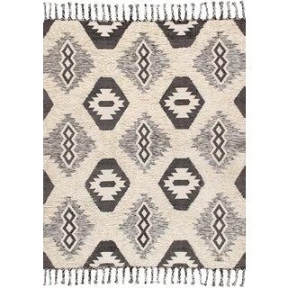 Pasargad Santa Fe Collection Cotton & Wool Area Rug- 5' X 8'