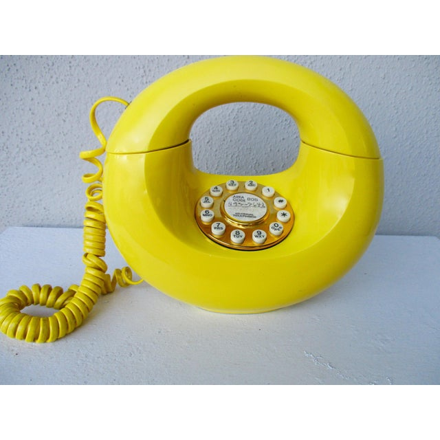 Bright Yellow Sculptura Donut Telephone Phone - Image 6 of 11