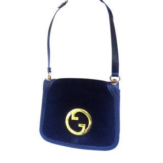 Gucci Italy Black Suede Shoulder Bag For Sale