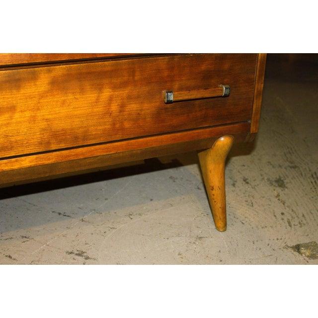 1950s Mid-Century Modern Renzo Rutili for John Stuart Cherrywood Dresser For Sale - Image 9 of 11