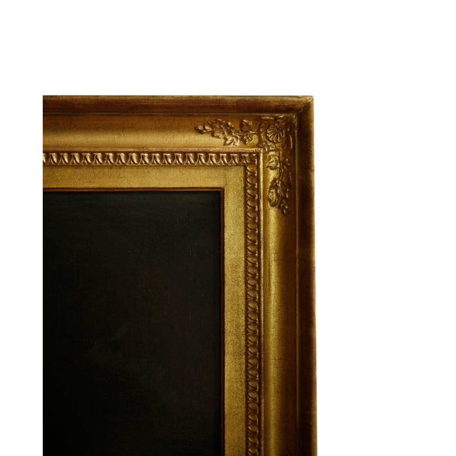 Late 18th Century Pair of 18th Century American Portraits in Giltwood Frames For Sale - Image 5 of 9