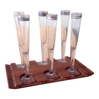 1960's Flute Shot Glass Set