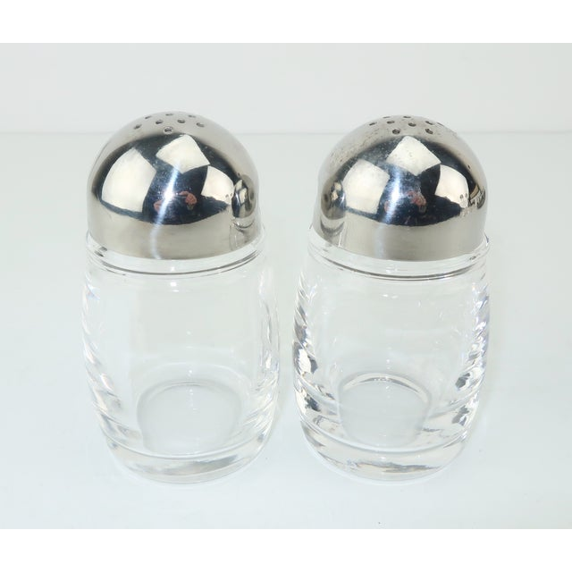 Glass Mepra Italian Stainless Steel & Glass Postmodern Cruet Set For Sale - Image 7 of 11