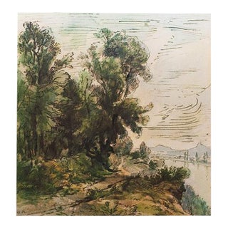 1959 Cottage Style River Landscape Lithograph by Theodore Rousseau For Sale