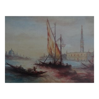 Impressionism Seascape Painting, the Grand Canal, Venice For Sale