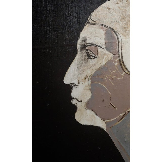 1960s Mercado -Surreal Portrait of a Woman -Oil Painting 1968 For Sale - Image 5 of 8