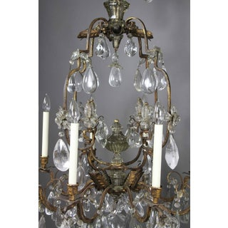 Louis XV Gilded Wrought Iron and Rock Crystal Chandelier Preview