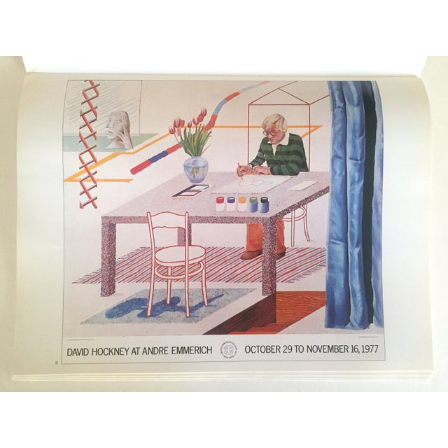 """Vintage 1987 """"Hockney Posters"""" Rare 1st Edtn Extra Large Collector's Art Book For Sale - Image 9 of 11"""