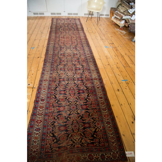 "Vintage Distressed Bijar Rug Runner - 3'7"" x 15'2"" - Image 4 of 10"