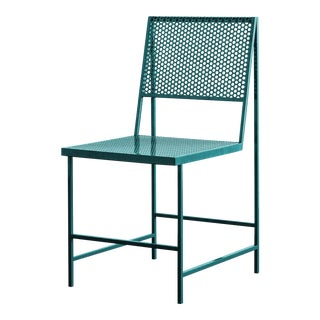 Flux Dining Chair in Forest Teal by the Foreman Brothers For Sale