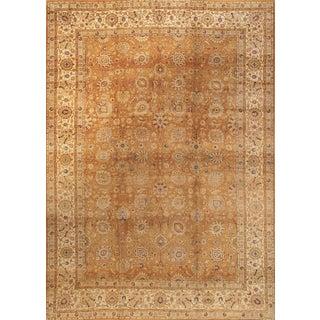 "Pasargad Home Antique Tabriz Area Rug - 11'2"" X 15'4"" For Sale"