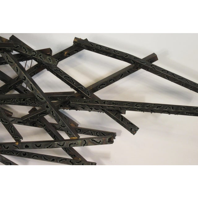 1970s 1970s Industrial Metal Wall Sculpture For Sale - Image 5 of 13