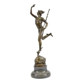 Mercury Hermes 19th Century Grand Tour Bronze Sculpture