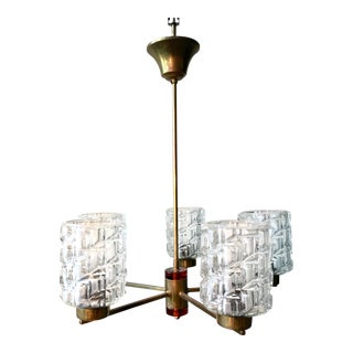 1960s Carl Fagerlund for Orrefors Chandelier For Sale