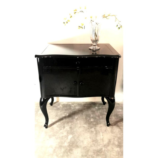 Edwardian Black Mahogany Nightstands - a Pair For Sale - Image 12 of 13