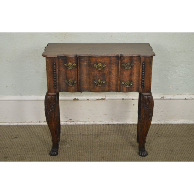 Georgian Style Antique 19th Century English Oak Dropleaf Narrow Console Table For Sale - Image 10 of 11