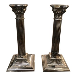 Silver Candlesticks - A Pair For Sale