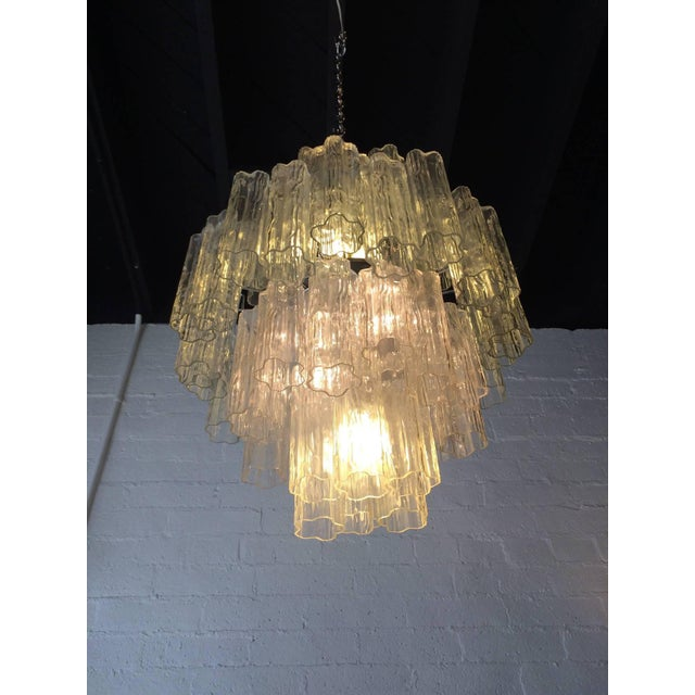 Tronchi Glass Chandelier by Venini for Murano - Image 6 of 9