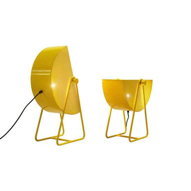 Bieffeplast Bieffeplast Yellow Table Lamps With Adjustable Shades, 1970s For Sale - Image 4 of 8