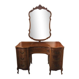 Antique Mt Airy Vanity French Style W/ Mirror For Sale