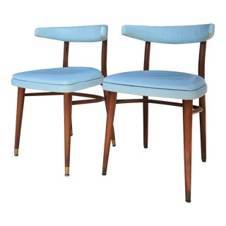 Mid-Century Modern Thonet Accent Chairs - a Pair For Sale
