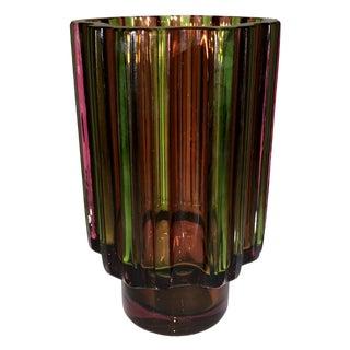Mid-Century Tapio Wirkkala Rosenthal Studio Glass Cogwheel Vase For Sale