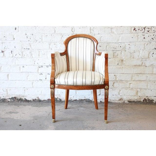 Antique Petite Biedermeier Style Armchair For Sale - Image 9 of 9