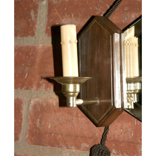 Superb Art Deco Wall Mirror with Sconces | DECASO